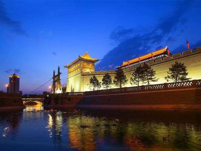 西安古城墙护城河夜景提升工程