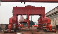 出口韓國全程40噸35m液壓輪胎吊