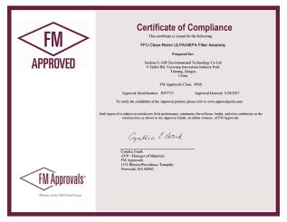 FM認證證書