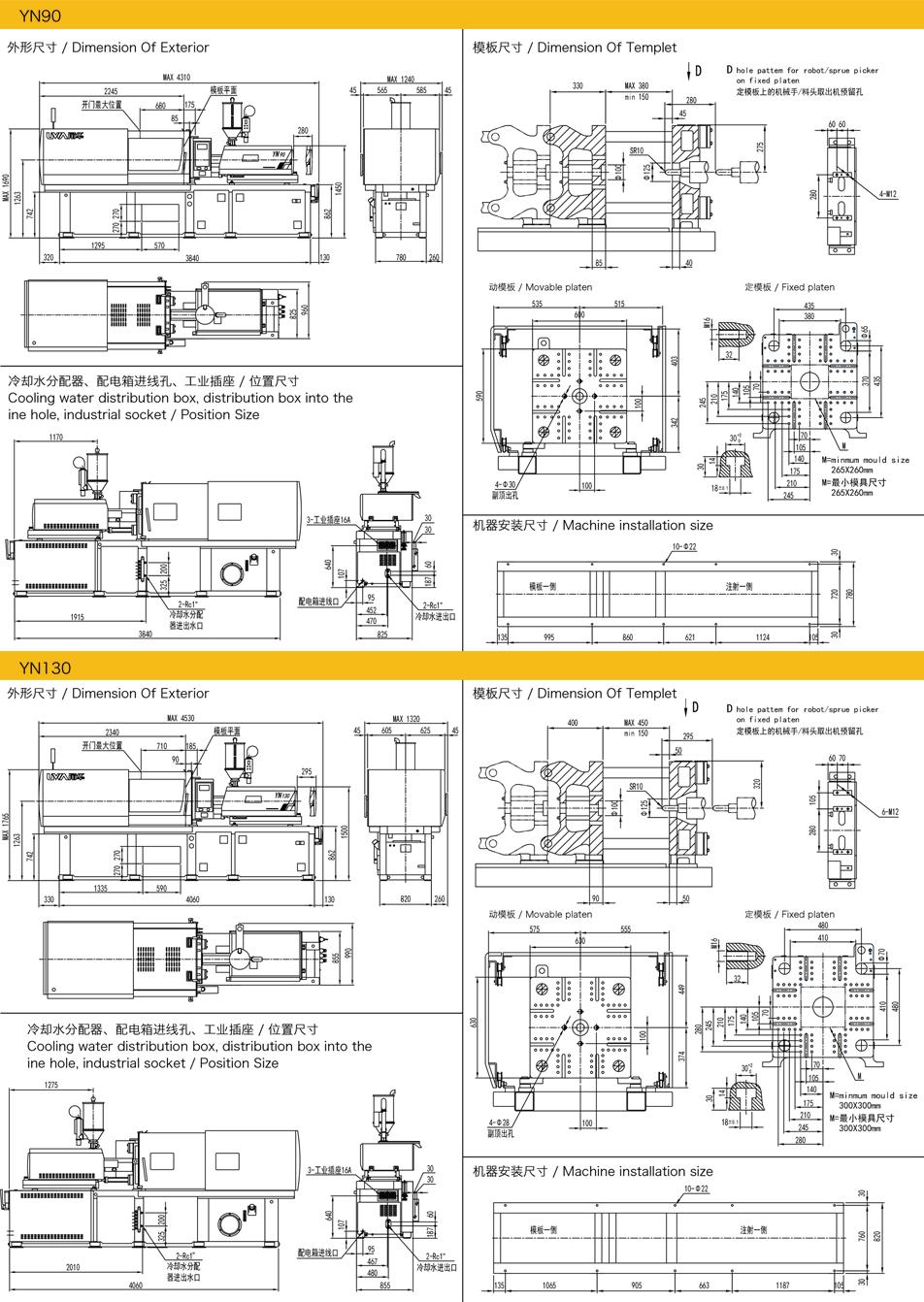 YN手機配件專用系列YN170注塑機