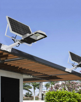Wall-mounted solar street lamp