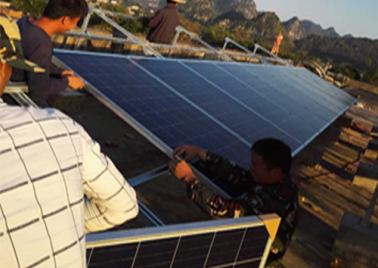Poverty alleviation project of 11.36kw photovoltaic power generation in kulong village, Luobai Township, Chongzuo City