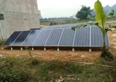 9.6KW off grid photovoltaic water pump project in Longzhou County