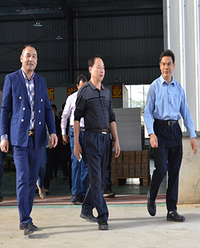 Vice Chairman Lei Hailiang of Chongzuo CPPCC visited Gato company for investigation and research