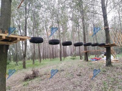 飞越丛林探险设施-树上探险拓展设施