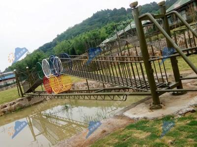 水上拓展训练器械-水上五环桥