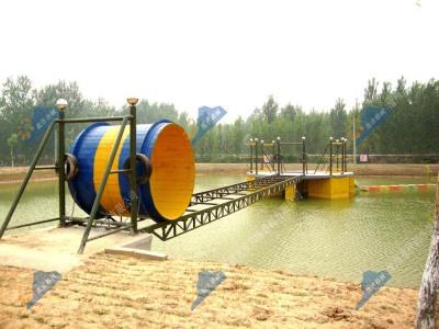水上拓展设施-太空行走(滚筒桥)