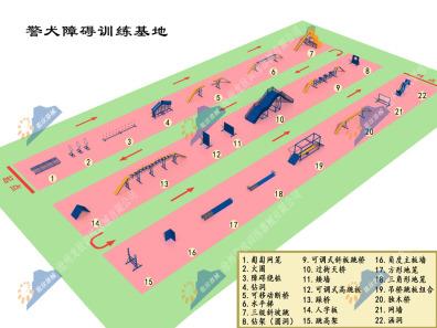 辽宁公安警犬障碍训练场-警犬障碍训练器材