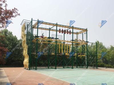 儿童绳索探险乐园-儿童绳网探险器材