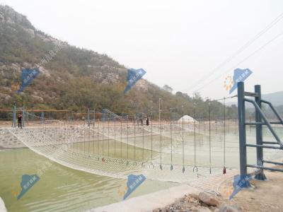 水上拓展器材-脚吊环桥
