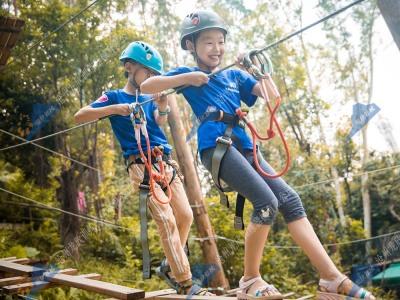 飞越丛林探险器材-树上探险拓展器材