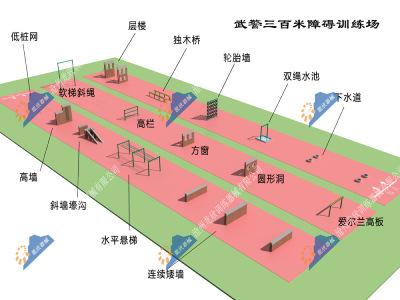 武警三百米障碍场-武警300米障碍训练场