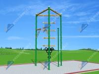 山西LXCZ-SMT3型高空拓展训练器材-高空三面体组合拓展器材