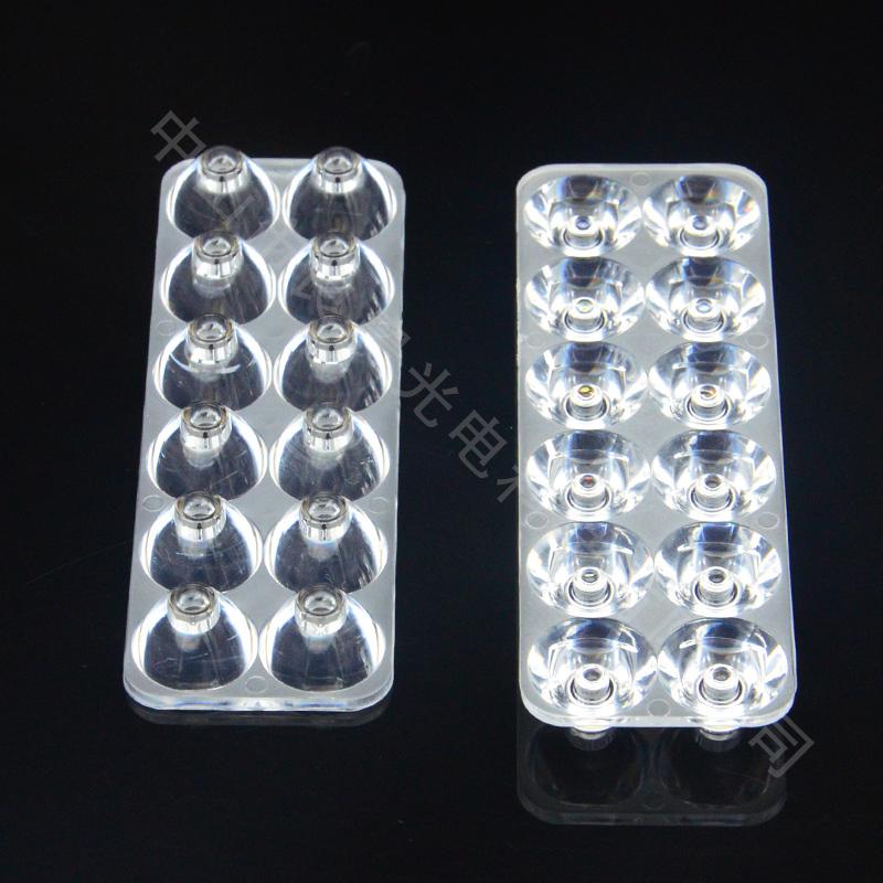 12W方摩托車燈透鏡