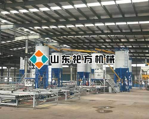 复合保温一体模板设备生产线