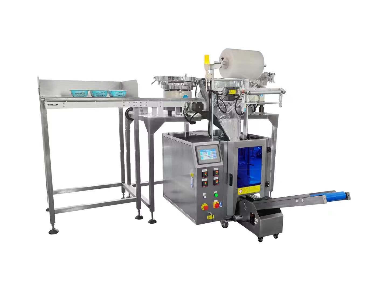 三盤自動點數包裝機+半自動人工投料工位