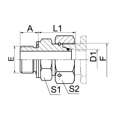 英管螺纹O 形圈密封柱端 2GC/2GD