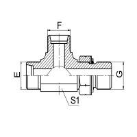 三通公制外螺纹24° 锥 / 公制外螺纹可调向柱端ISO 6149-2 ACCH-OG/ADDH-OG