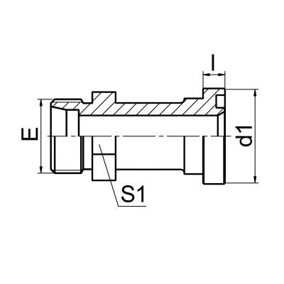 延边公制螺纹卡套式 / 重系列法兰ISO 6162-2 1DFS