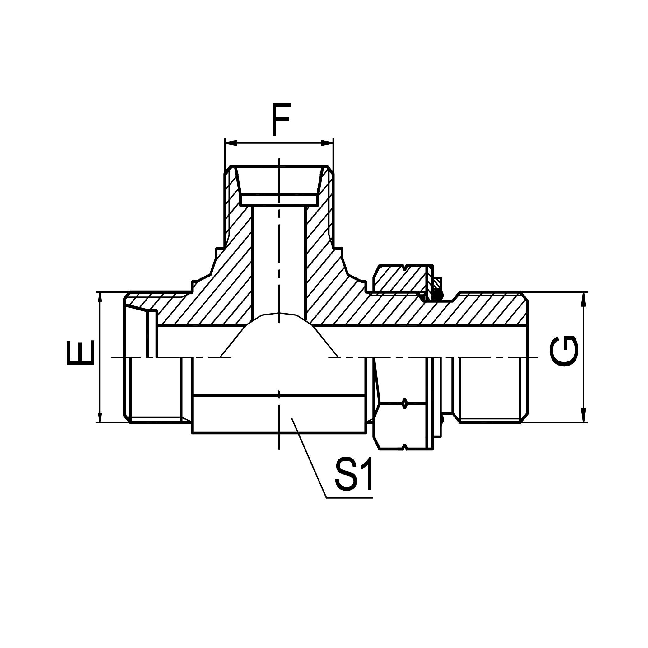 三通右端英管螺纹可调向O 形圈密封 ACCG-OG/ADDG-OG
