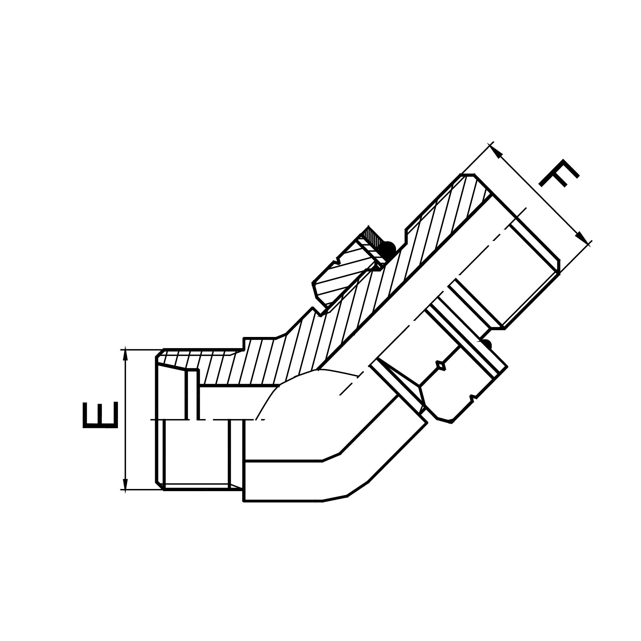 45°弯公制外螺纹24°锥/公制外螺纹可调向柱端ISO 6149-2 1CH4-OG/1DH4-OG
