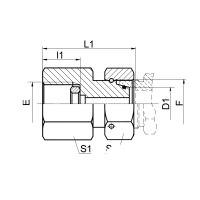 钢垫密封英管压力表接头 7BC-GDK/S 7BD-GDK/S