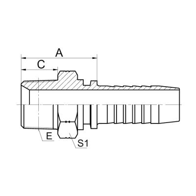 英锥管外螺纹 13011-SP