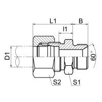 济宁英管螺纹60°锥密封或组合垫密封两用柱端 1DB