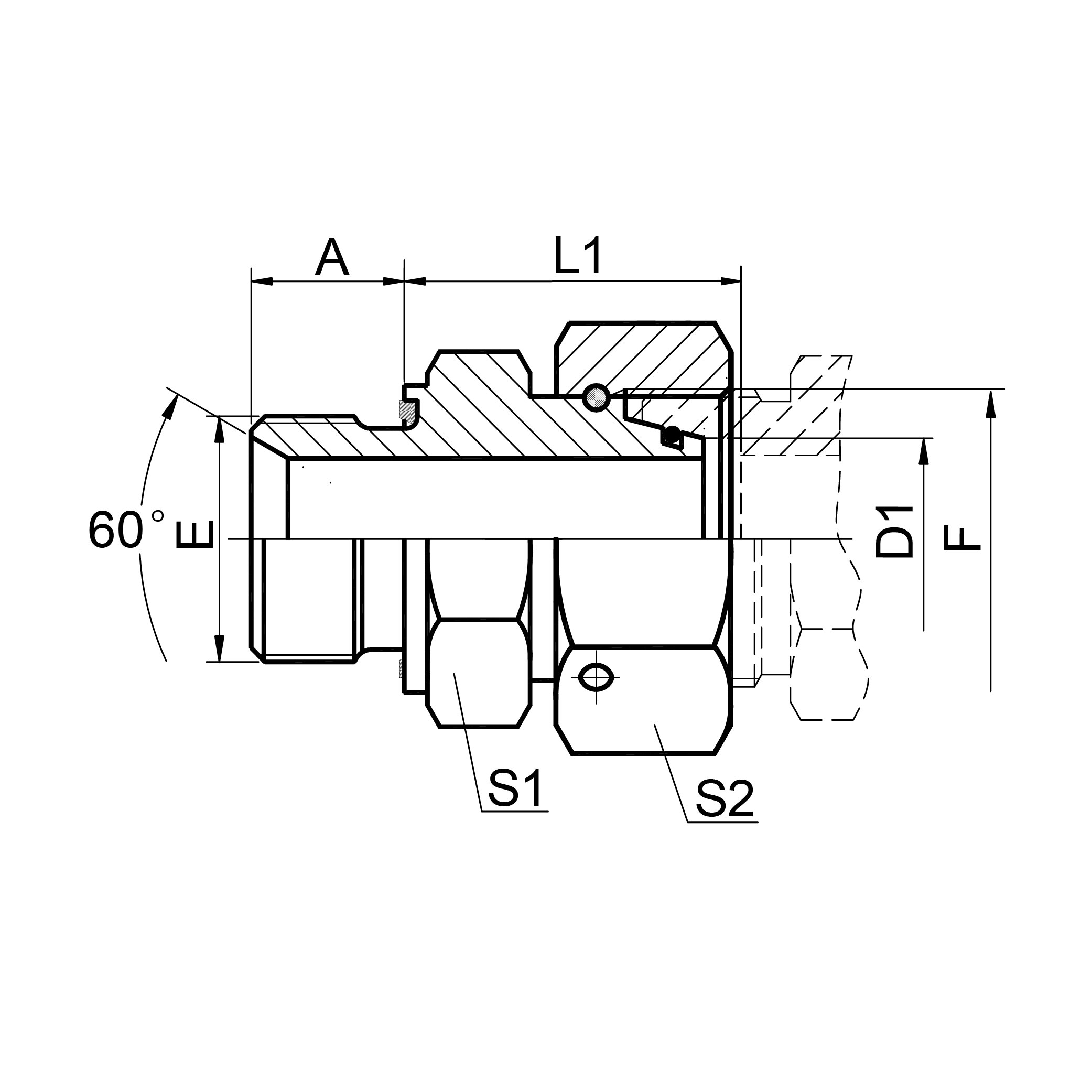 公制螺纹胶垫密封柱端 2MC-WD/2MD-WD