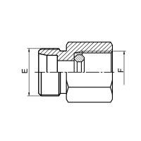 延边钢垫密封英管压力表接头 5CB-GDK/5DB-GDK