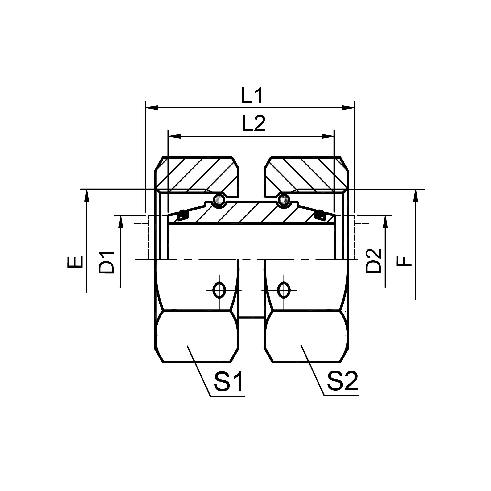 内螺纹直通接头 3C/3D