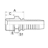 布锥管外螺纹 15611