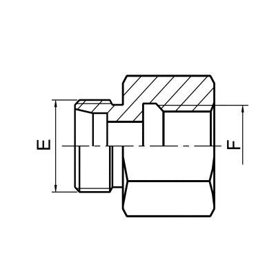 英管内螺纹柱端接头 5CB/5DB