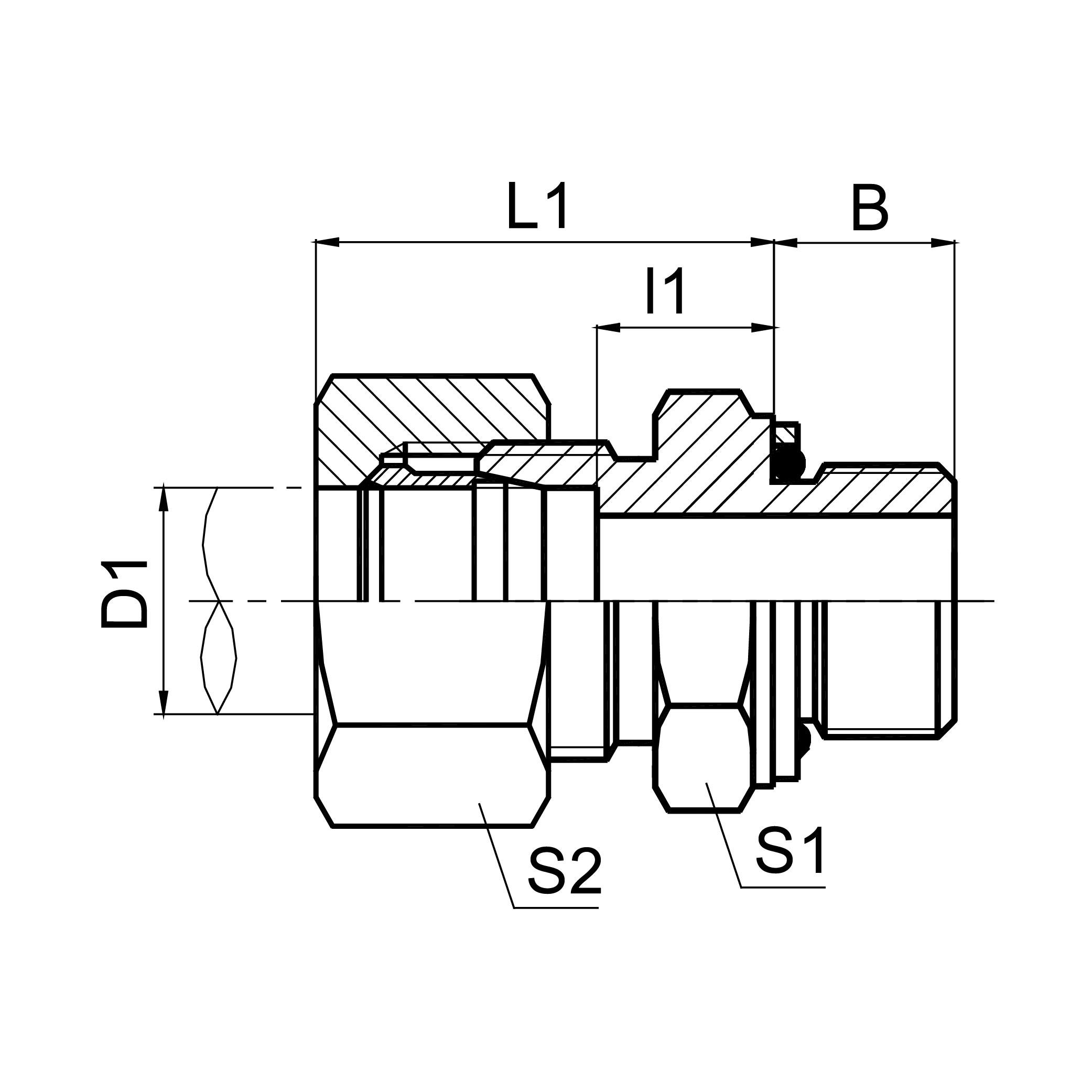 延边英管螺纹O形圈密封柱端 1CG/1DG