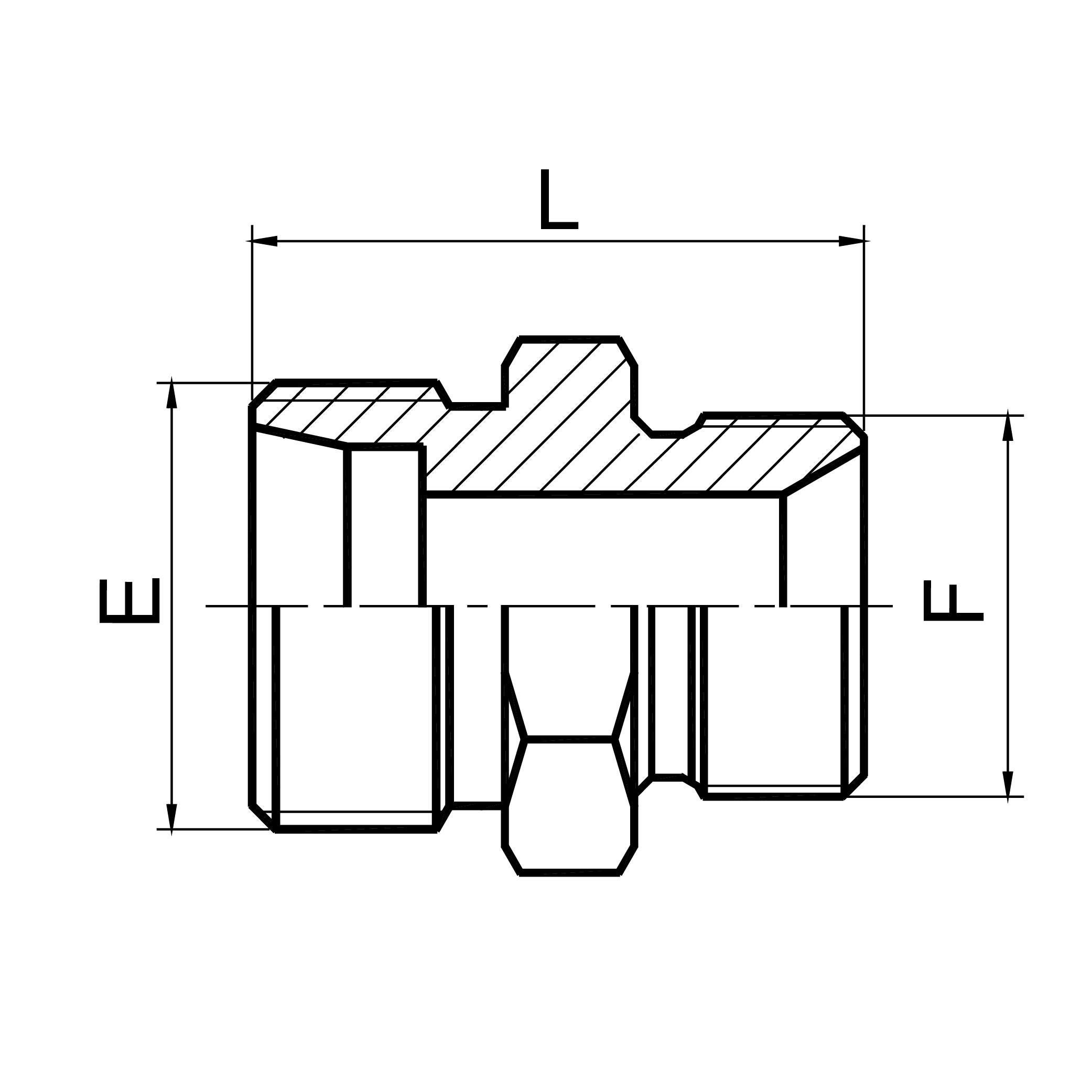 上海英管螺纹60°锥密封或 组合垫密封两用柱端 1CB/1DB