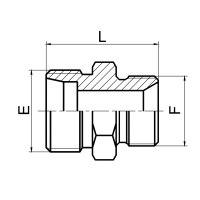 英管螺纹60°锥密封或 组合垫密封两用柱端 1CB/1DB