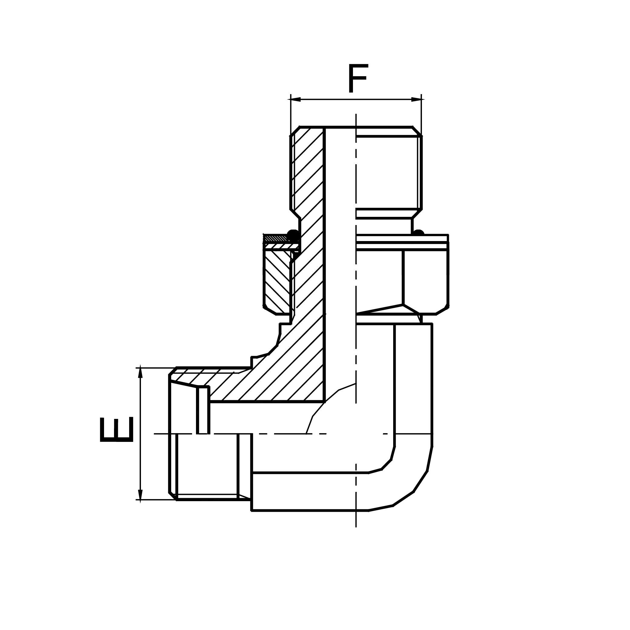90°弯英管螺纹可调向O形圈密封柱端 1CG9-OG/1DG9-OG