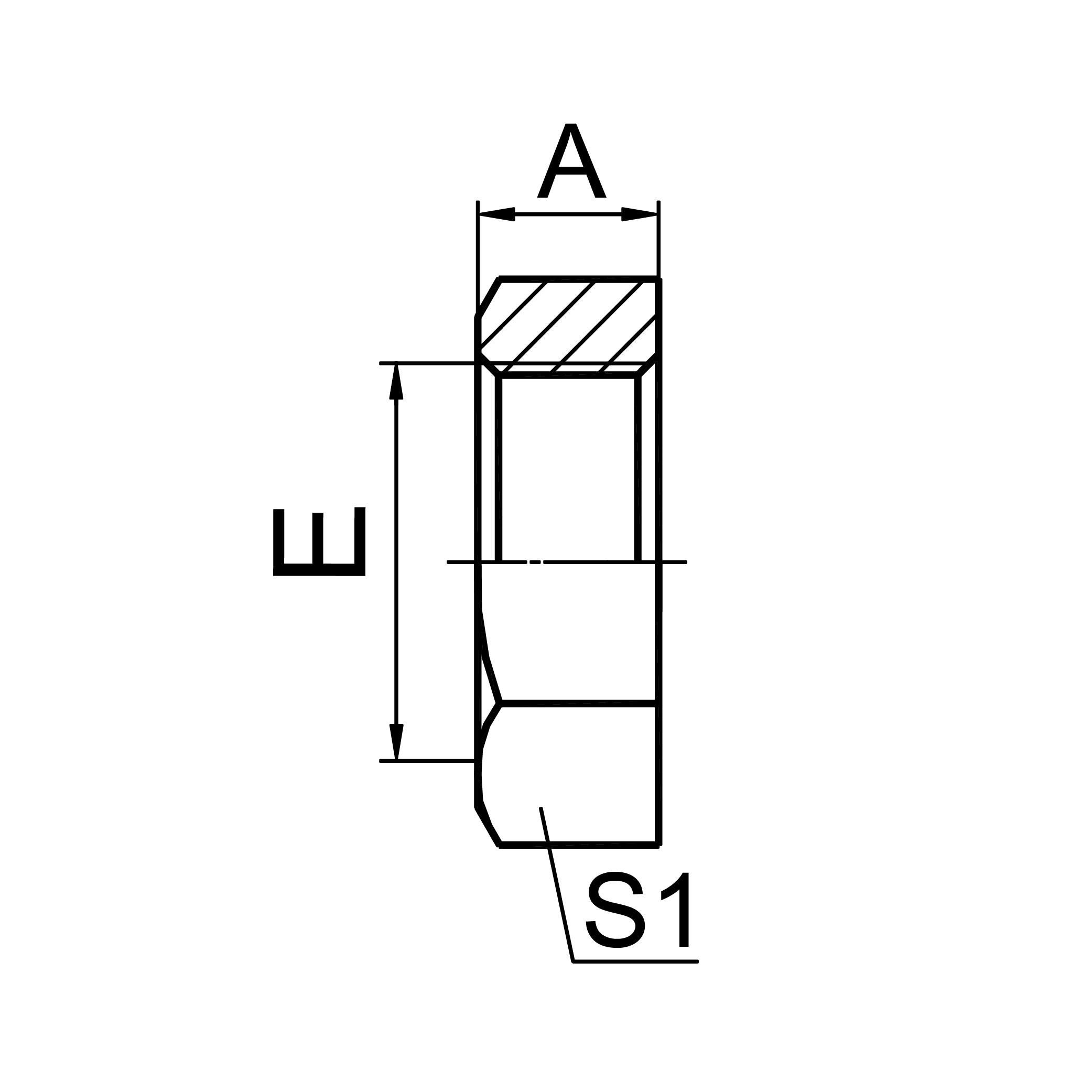 公制螺纹锁母 8C