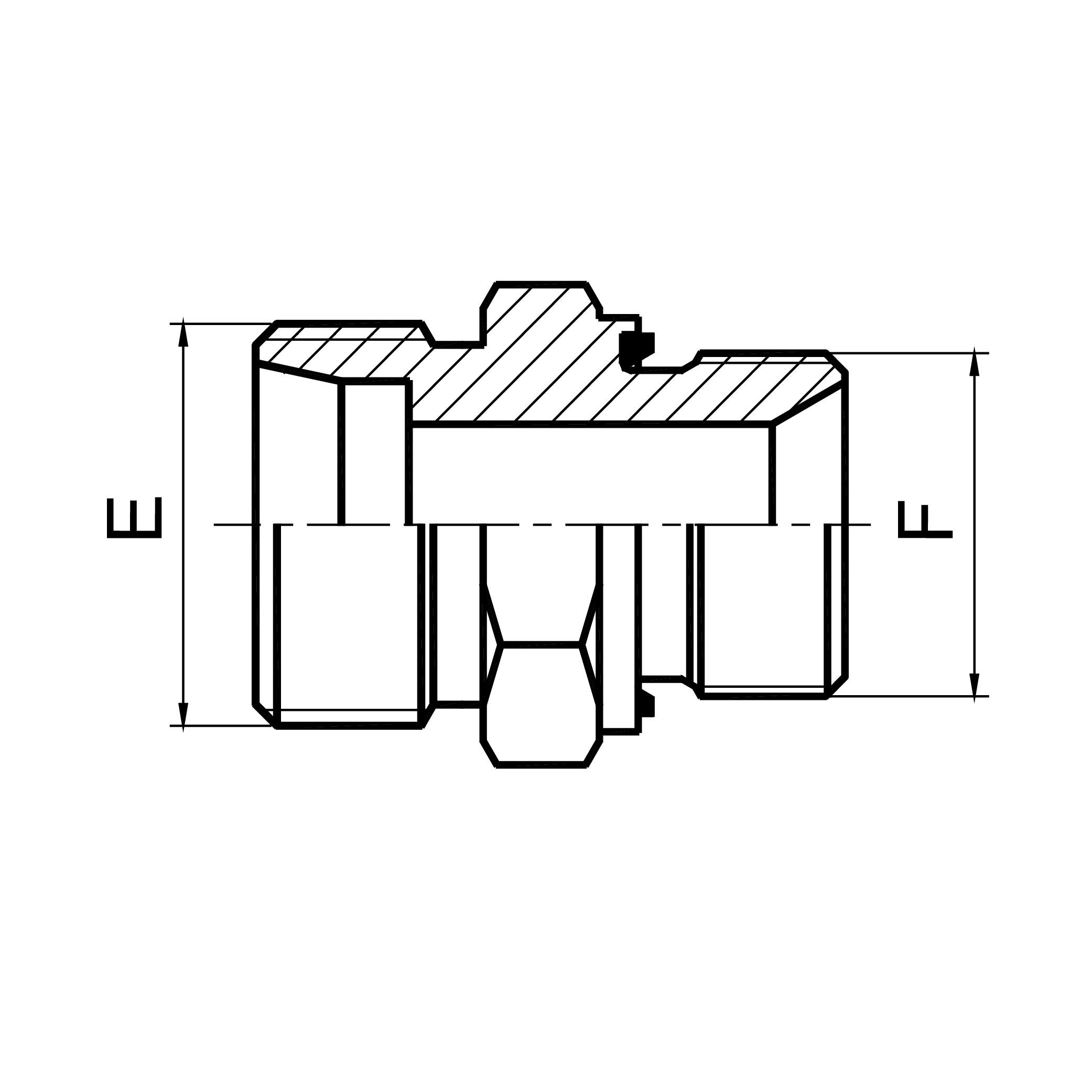 珠海英管螺纹胶垫密封柱端 1CB-WD/1DB-WD