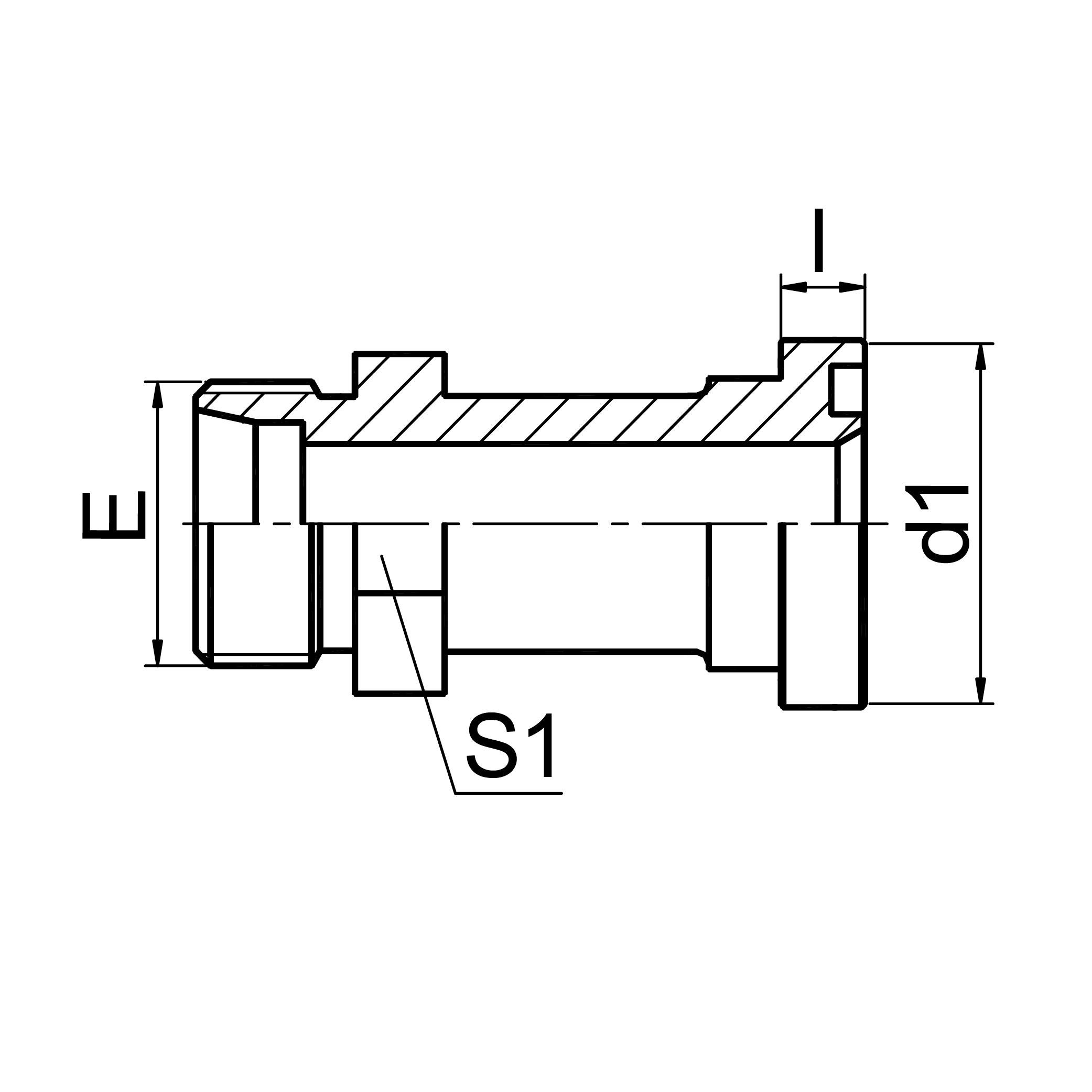 延边公制螺纹卡套式 / 轻系列法兰ISO 6162-1 1CFL/1DFL